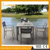 Bâti dans les Bistros extérieurs de Tableau dinant de jardin de poudre de loisirs de Tableau de meubles en aluminium enduits de restaurant