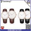 Yxl-598 de nieuwste Horloges van Mens van de Band van het Leer van de Mode, de Horloges van Mens van het Staal van Stainelss van de Manier