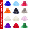 Falda ligera del soplo del baile de fin de curso del color sólido de nueve mujeres LED de los colores
