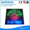 Sinal chinês eletrônico quadrado do diodo emissor de luz do alimento de Hidly
