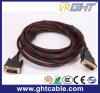 DVI-DVI del trenzado del cable para el ordenador portátil y el ordenador