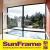Parete fissa di alluminio della finestra con la grande vista
