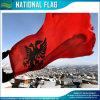 Red BackgroundアルバニアのFlag (J-NF05F09321)の二重Headed Eagle
