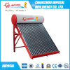 Calefator de água solar não pressurizado da câmara de ar de vácuo do telhado do aço inoxidável