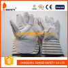 Перчатки Спилковые Комбинированные Пятипалые Рабочие Перчатки (DLC218)