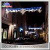 白い休日のスカイラインの通りLEDのクリスマスの装飾ライト