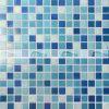 zwemmende Glas van het Mozaïek van de Smelting van de Mengeling van 20X20mm het Blauwe Hete (BGE004)