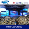 Pantalla de visualización publicitaria de interior de LED P7.62 para la etapa