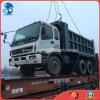 10_Cylinders 부피 출하 에 사이트 검사 20ton 위로 짐은 일본에 의하여 사용된 Isuzu 덤프 트럭을 변속기 보장했다