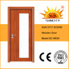 Portas de madeira de vidro cinzeladas do baixo preço projeto novo (SC-W030)