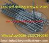 Parafuso 6.3*175 da telhadura do parafuso Torx