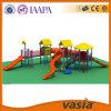 子供のプラスチック屋外の滑走のゲームの運動場