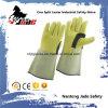 Неподдельная перчатка работы заварки техники безопасности на производстве кожи Cowhide