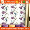 Papel pintado casero decorativo interior con el polvo del pegamento