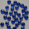 Blaue Glasfelsen-Kiesel-Raupen