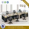 나무로 되는 가구 6 시트 사무실 분할 워크 스테이션 (HX-NPT017)