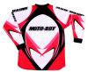 A motocicleta fora da estrada veste-se (MB-MC001J - o vermelho)