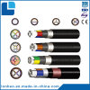 O baixo condutor XLPE do Tensão-Alumínio isolou o cabo distribuidor de corrente Sheathed PVC de aço da fita
