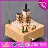 Rectángulo de música de madera de haya de los juguetes de los niños de la alta calidad DIY W07b041