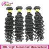 Weave человеческих волос Peruvian волны 100 перуанских волос девственницы 10A глубокий