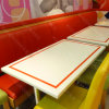 Tabella pranzante personalizzata del ristorante di superficie solido della Tabella di buffet (61005)