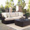 Insieme sezionale di vimini del sofà della mobilia esterna del giardino del rattan del patio