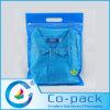 Las bolsas de plástico de encargo de Tranparent con el Mano-Agujero para el empaquetado de la camisa
