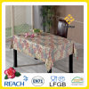 Flannel Backing (TJG0007)를 가진 장방형 PVC Embossing Tablecloth