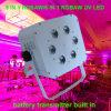 6X15W Rgabw Batterie-Radioapparat herauf Hochzeitsfest-Dekoration