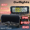 Nieuw Ontwerp! IP 68 Waterproof met Breather Super Bright 8inch 60W van Road CREE ED Light Bar LED Work Light