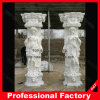 Da fábrica coluna romana da escultura de mármore Polished diretamente