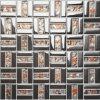 Teja vidrio cristalino del mosaico Mezclado inoxidable Stess de revestimiento de la pared (FYDJ-1548B)