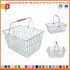 Panier à provisions durable en métal de supermarché (Zhb20)