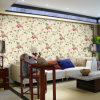 Pvc Deep Embossed Wallpaper met Floral
