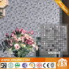 Look Gris Madera Mármol Acero inoxidable mezcla de diamante y mosaico de vidrio (M823045)
