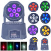 LED 6PCS RGBWA紫外線6in1 Moving Head Wash Light