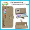 Rétro lignes de gel caisse de cuir de logement pour carte pour Samsung S7