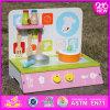Комплект кухни 2016 новых малышей конструкции деревянный, комплект кухни верхних детей способа деревянный, кухня установленное W10c185 оптового младенца деревянная