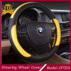 Accesorios interiores del coche, cubierta colorida del volante del cuero de la fibra