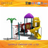 Purpurrotes Dach-Kind-Spielplatz-Gerät mit gewundenem Plättchen