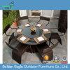 Mobília ao ar livre do Rattan do PE, jogo da tabela de jantar 8PCS