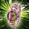 Het aangepaste Horloge van het Bamboe van Dames Natuurlijke