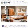 Muebles de madera indonesios del dormitorio de los muebles del hotel de la base (SH-011#)