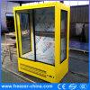Refrigerador auto de la visualización de la flor fresca de la helada de la puerta de vidrio de desplazamiento