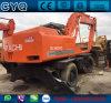 Excavador usado de la rueda de Hitachi Ex160wd para la venta