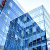 Windows 건설을%s 아름다운 파란 다채로운 색을 칠한 플로트 유리