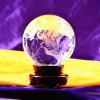 globo della terra della sfera del mondo di cristallo di 120mm per il regalo di affari