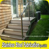 Balustrade extérieure fixée au sol d'escalier d'acier inoxydable