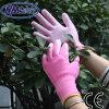 Перчатка работы повелительниц PU Nmsafety розовая