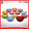 卸し売り明確なか着色された安いガラスキャンデーのサラダボール